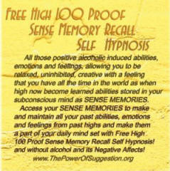 Free High 100 Proof Sense Memory Recall Self Hypnosis